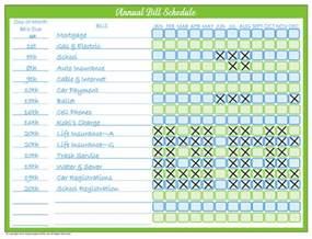 organic monthly bill organizer