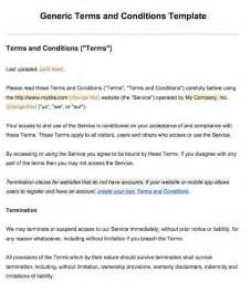 Commercial Terms And Conditions Template by Sle Terms And Conditions Template Termsfeed