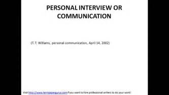 how to cite in apa interviews
