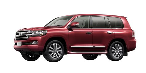 red land cruiser facelifted toyota land cruiser 200 unveiled in japan w