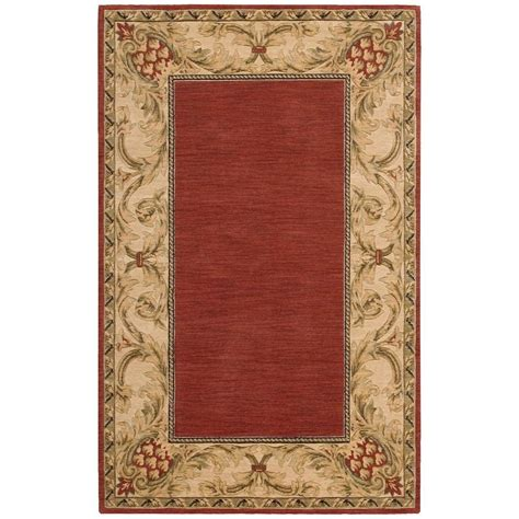 Area Rugs Overstock Nourison Overstock Vallencierre Brick 3 Ft 6 In X 5 Ft 6 In Area Rug 573186 The Home Depot