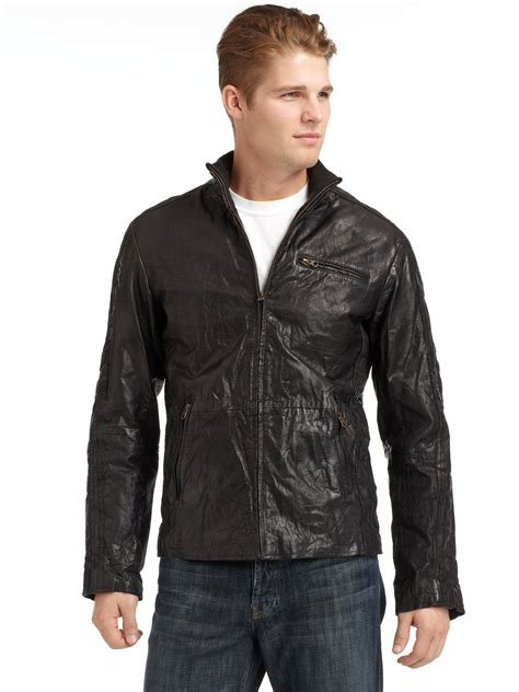 Leather Cod Jacket Jg Cod 03 connection vintage distressed leather jacket in