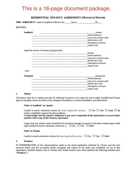 standard tenancy agreement template saskatchewan residential tenancy agreement month to month