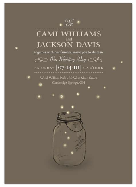 firefly wedding invitations wedding invitations fireflies at minted