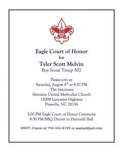 Image Result For Eagle Scout Court Of Honor Eagle Scout Announcement Templates