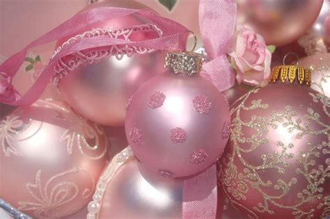 victorian pink christmas bulbs pink christmas pinterest