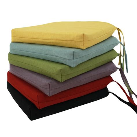 Dining Chair Cushions With Ties Brite Ideas Living Circa Reversible 17 X 17 Foam Seat Cushion With Ties Dining Chair Cushions