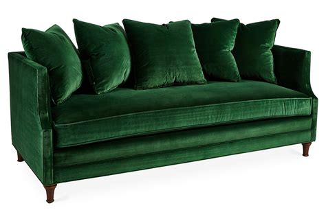 emerald green velvet sofa grape vine realty inc