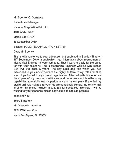 Application Letter Exle For Application Letter Templates 10 Free Templates In Pdf Word Excel