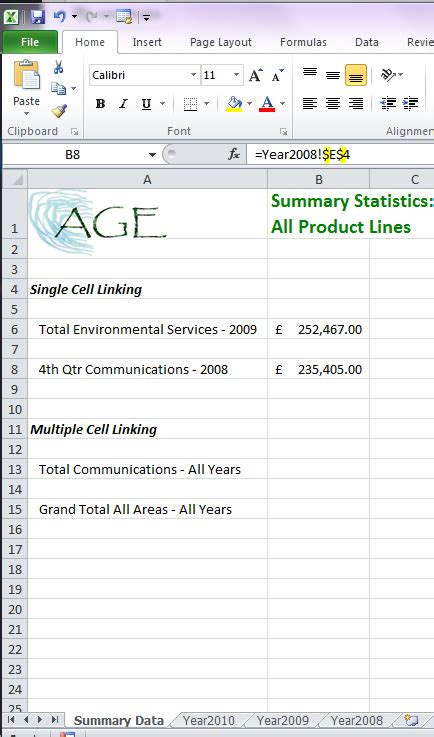 excel tutorial uk data linking in ms excel acuity training