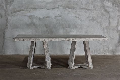144 dining table reclaimed elm x base dining table 144 quot villa vici