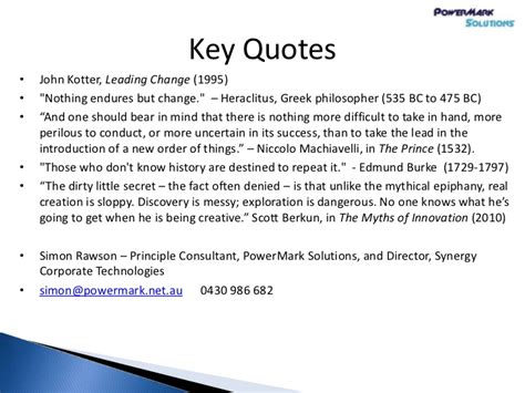 kotter quote on change management intranet transformation and organisational change