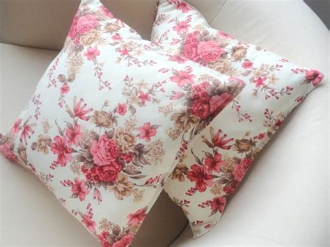 floral couch pillows valentine day pink and beige brown floral sofa pillow