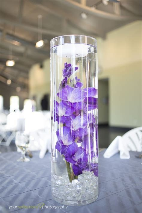 Gladiolas   Submerged flowers   purple wedding flowers
