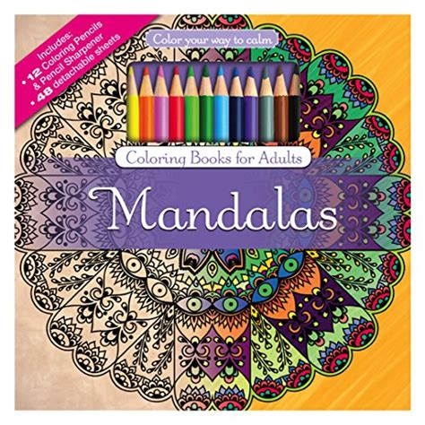 colored pencils coloring books mandalas coloring book set with colored pencils and