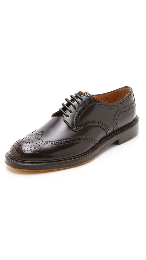 wingtip shoes doucal s siena wingtip derby shoes in purple for