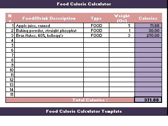 calorie tracker template enom warb co