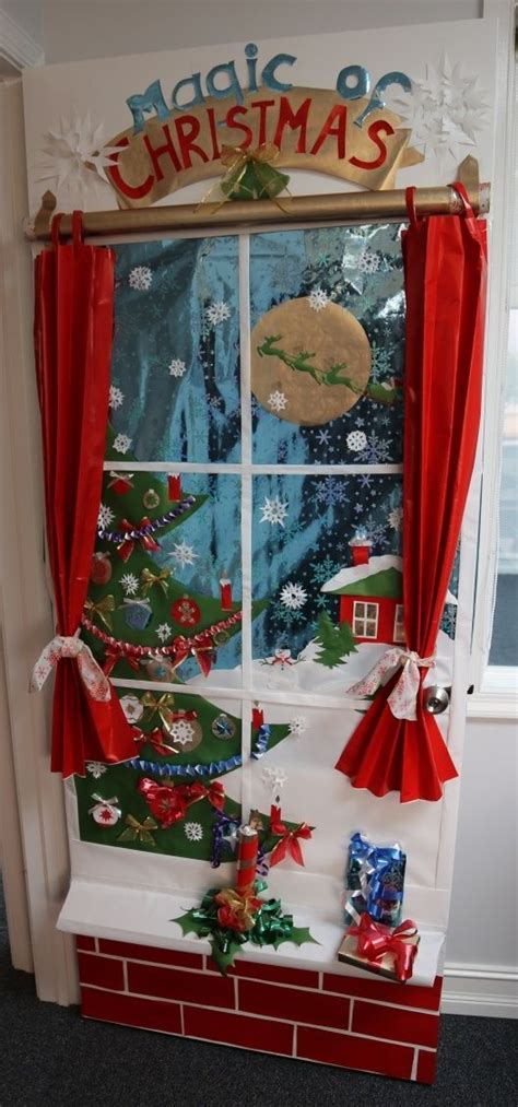 show me christmas decorations for an office 17 best door contest images on