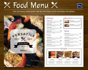 free downloadable restaurant menu templates restaurant flyer template 56 free word pdf psd eps