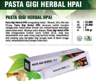 Pasta Gigi Herbs Fluoride Toothpaste sehat alami dan islami pasta gigi herbal hpai