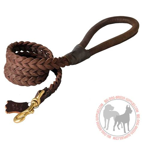 leather leash buy braided leather lead with handle