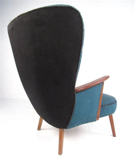 mid century modern wing chair mid century modern wingback lounge chair by madsen and