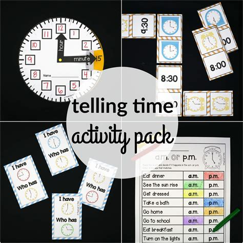printable games for time telling time activity pack playdough to plato