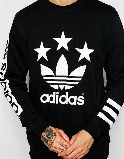 Jaket Sweater 3 Colour Adidas Black adidas originals sweatshirt ab9577 in black for lyst