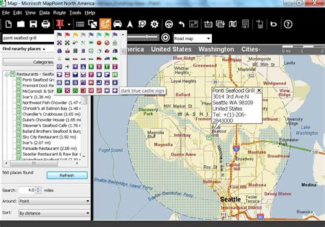 map point mappoint 2013 america