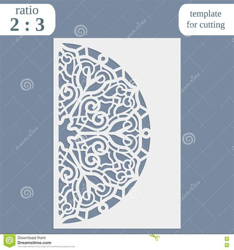 Templates For Cards Lace Tree Cards by Laser Cut Wedding Card Template Paper Openwork Greeting
