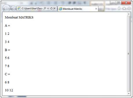 Aljabar Linear Dilengkapi Dengan Program Matlab membuat matriks dengan java script rahmadya trias handayanto