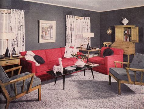 1950s living room 1951 coral gray living room vintage 1950s interiors