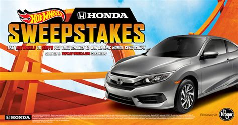 Sweepstakes September 2017 - hot wheels honda sweepstakes 2017 win a 2017 honda civic coupe lx cvt