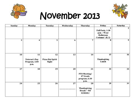 printable calendar october november december 2013 6 best images of printable november 2013 thanksgiving