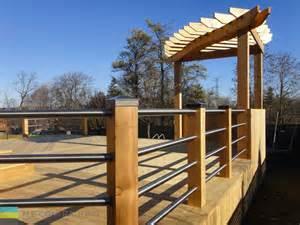 Pergola Railing Design deck pergola stainless steel railings 08 toronto