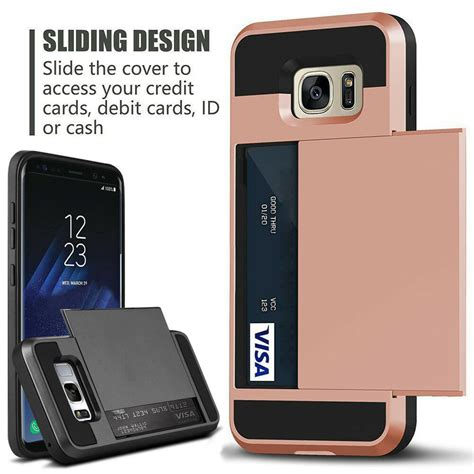Samsung Galaxy S10 Ebay by For Samsung Galaxy S10 Note 9 S9 S8 Rugged Armor Card Pocket Wallet Cover Ebay