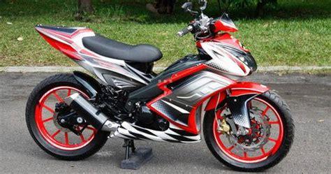 A Lu Sepeda Lengkap Depan Putih Belakang Merah Bonus Batre modifikasi jupiter mx cw racing look