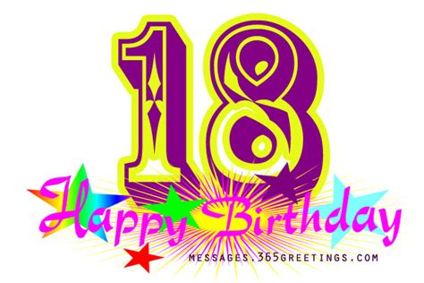 Happy 18th Birthday Wishes For 18th Birthday Message