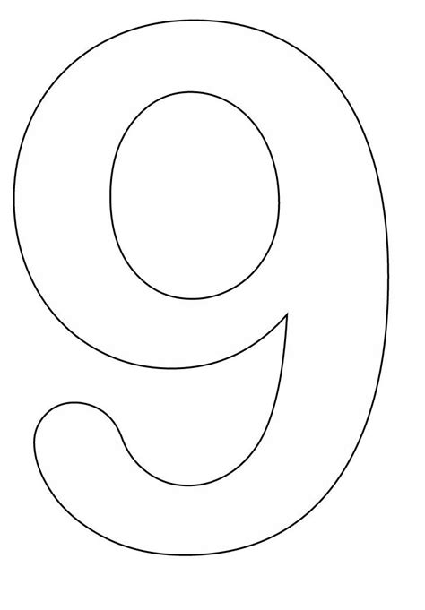 9 Coloring Page by Coloring Pages Of Number 9 Crafts Number