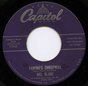mel blanc christmas blogspot the record robot holy frijoles