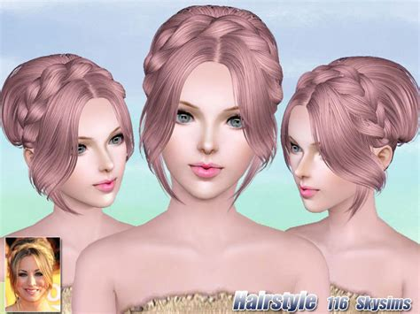 sims 3 resource hair skysims hair 116