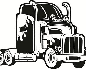 semi truck toddler bed truck driver svg etsy