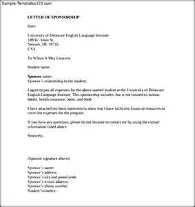 sponsorship letter template for education download