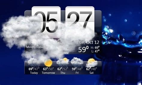 Desk Top Weather by Htc Home Desktop Application To Display Time And Weather