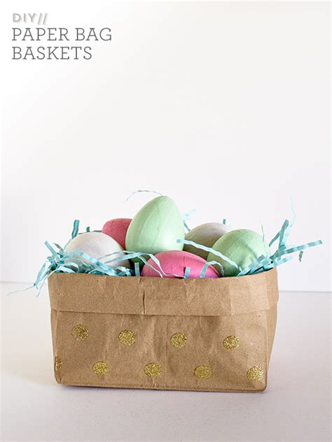 Paper Easter Baskets - diy paper bag easter baskets hearts
