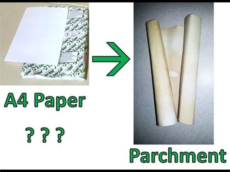 How To Make Paper Look Like Parchment - a4 ka茵莖d莖ndan par蝓omen ka茵莖d莖 nas莖l yap莖l莖r how to make