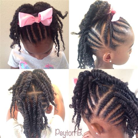 nice girl hairstyles cornrows twists remember this top cornrows with ends twisted up into ponytail back