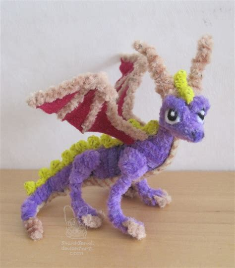 pipe cleaner crafts pipe cleaner chenille spyro by sherval on deviantart