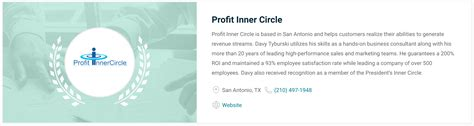 inner circle consultants davy tyburski business consultant