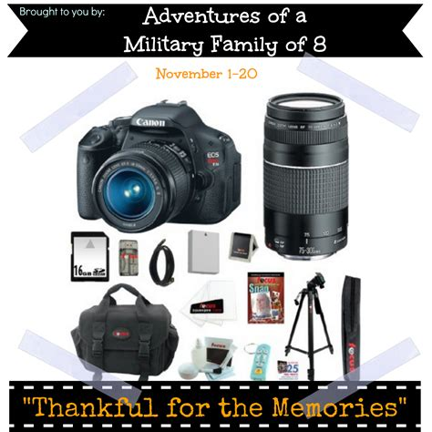 Giveaway Events - blogger opp thankful for the memories giveaway event